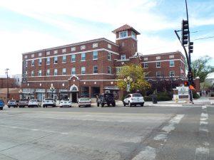 Red brick exterior of the Hassayampa Inn