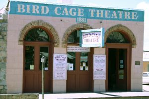Entrance to the Birdcage Theatre showing the arches at the entryway.