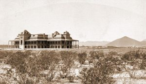 a photo of Old Main in 1889